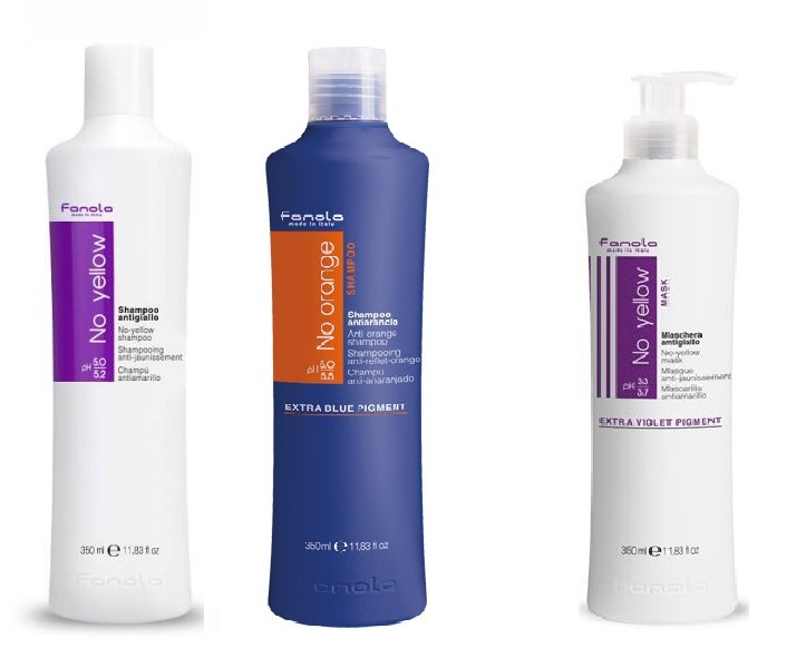 Fanola No Yellow Shampoo 350 ml + No Orange šampon 350 ml 2+1 Akce