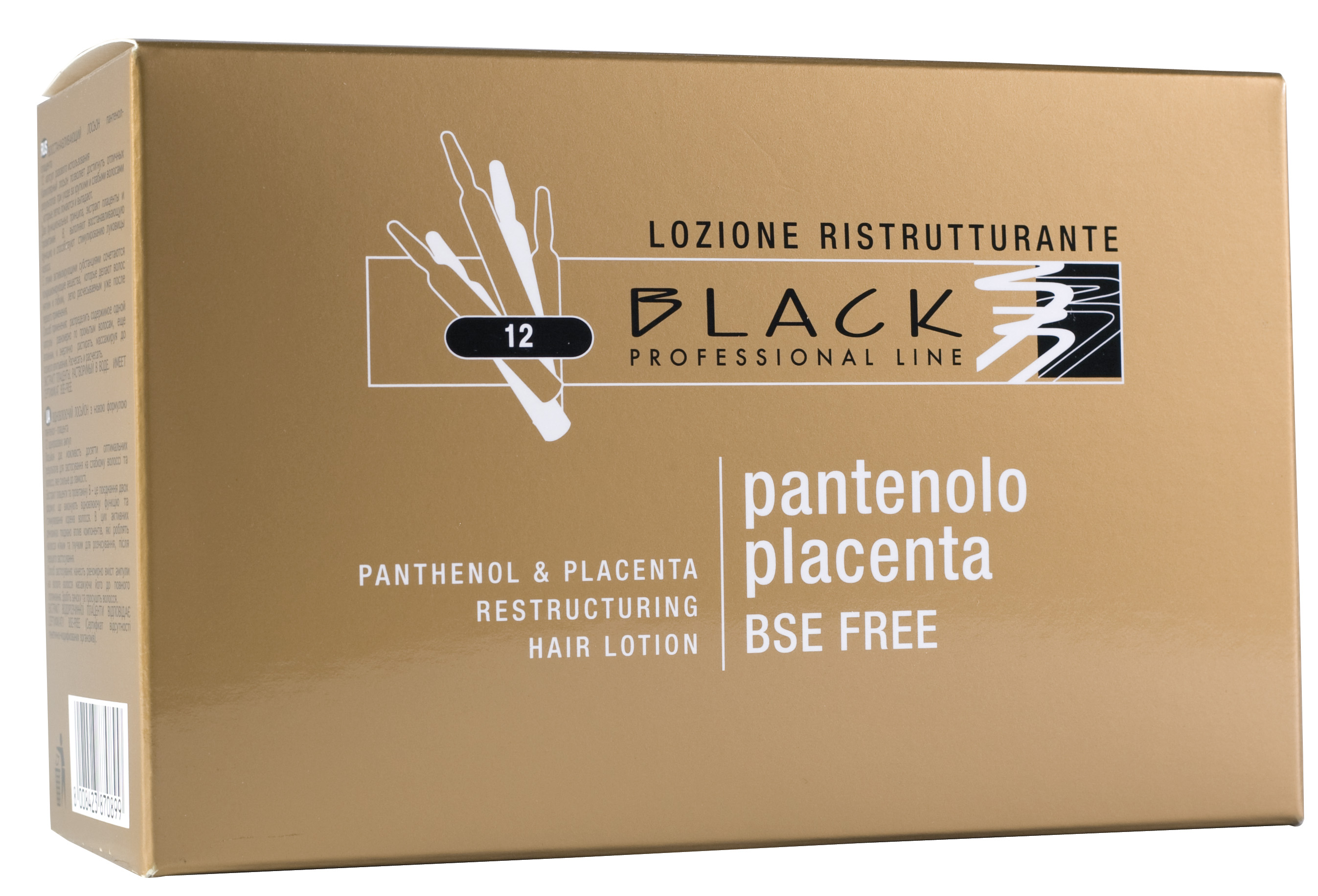 Black Panthenol a placenta Hair Lotion 12x10 ml